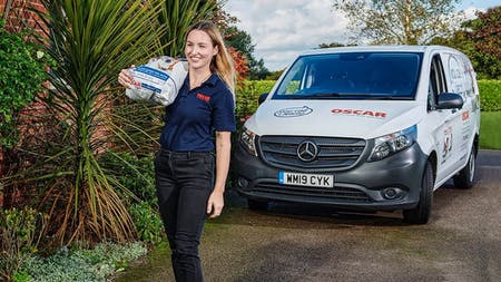 Budding businesswoman Poppy Devlin is relying on an Approved Used Mercedes-Benz van to drive the success of the pet food venture she launched as the UK battled the effects of the Covid 19 pandemic