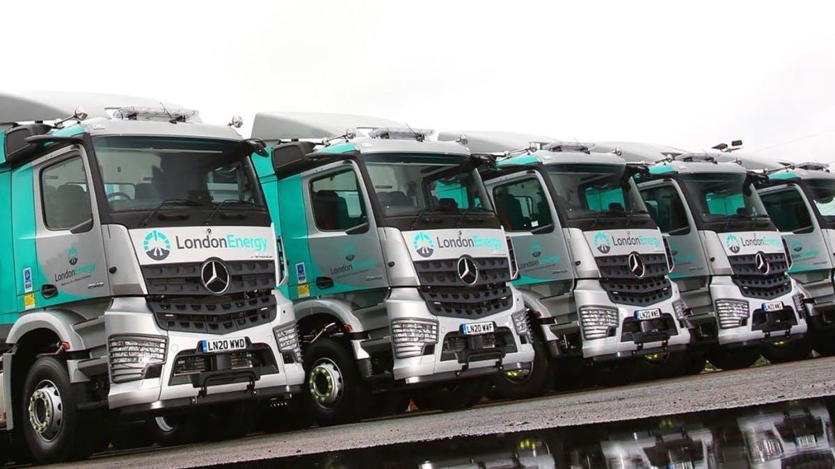 Five new-generation Mercedes-Benz Arocs with MirrorCam sharpen LondonEnergy's safety focus