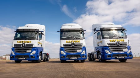 Loyal customer Bartrums looks to the future and embraces the latest Mercedes-Benz truck technology