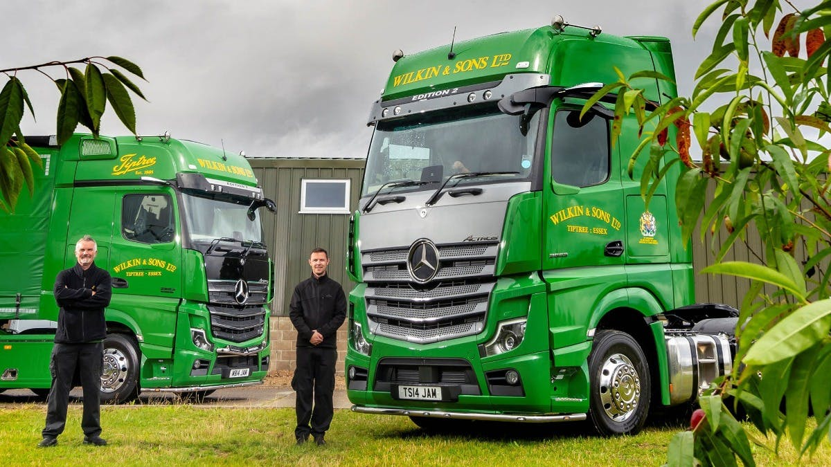 It's 'jam today' for Tiptree driver Tim, as UK's first exclusive Mercedes-Benz Actros Edition 2 hits the road