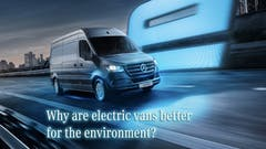 Why are electric vans better for the environment?